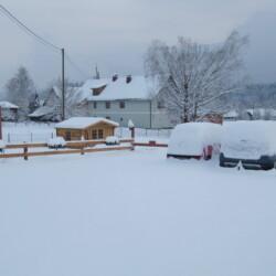 Parkplatz Winter