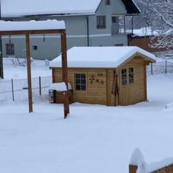 Garten Hütte Winter